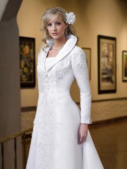 Свадебное платье строгий стиль