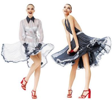 Модели на принтах новой женской коллекции Dolce & Gabbana сезона...